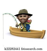 3d Explorer goes fishing on his boat