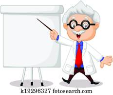 Professor cartoon teaching