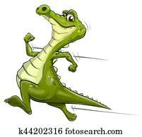 Alligator running vector art