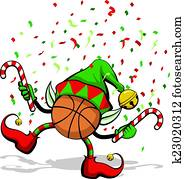 Basketball Christmas Elf