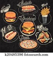 Drumstick Vectors | Our Top 1000+ Drumstick Clip Art ...  Retro Clip Art Food