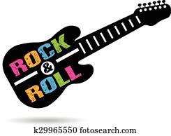 felsen rolle, gitarre, logo