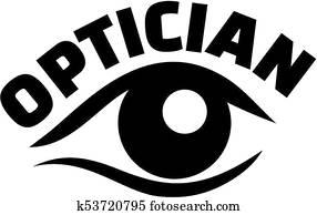 Optician job title eye