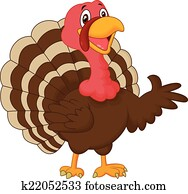 Cartoon turkey presenting