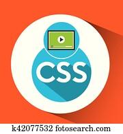 web development video player css