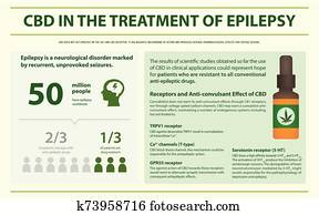 CBD in the Treament of Epilepsy horizontal infographic