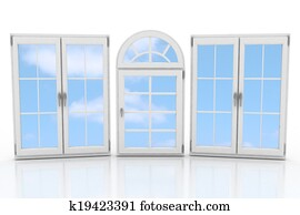 closed plastic windows