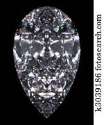 Diamond pear cut