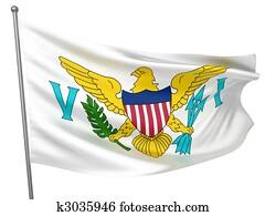 Virgin Islands (US) National Flag
