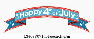 Happy 4th of July banner vector