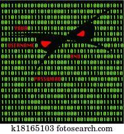 Hacker attack vector illustration