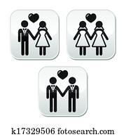 Wedding married hetero and gay