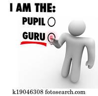 I Am The Guru Person Choose Expert Teacher Guide Leader