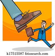 aktiengesellschaften, und, einzelfachhandel, karikatur