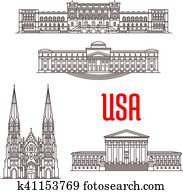 Architecture landmarks of USA