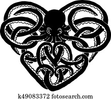 Celtic Octopus Vector
