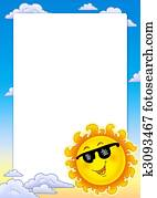 Frame with spring Sun