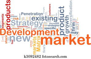 Market development background concept