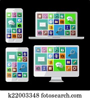PC, laptop, tablet and cell phone