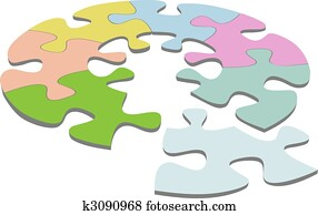 Round Jigsaw Puzzle 3D Circle Solution