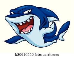 Shark Funny Cartoon