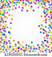 Colorful Confetti Border