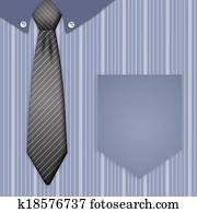 Illustration of tie and shirt for Father's Day