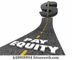 Pay Equity Road Dollar Sign Work Equality 3d Illustration