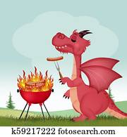 dragon at the barbecue