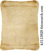 old paper or parchment scroll
