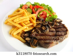 Ribeye steak meal