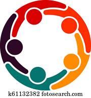 Partner Business Teamwork Trust in each other - Logo