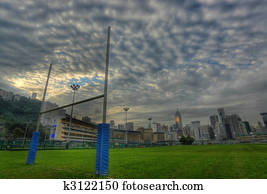 rugby goalposts in HDR