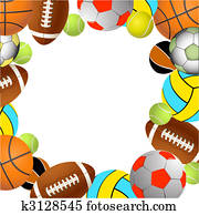 sport, balls., vektor, abbildung