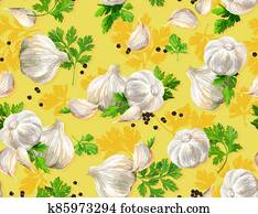 Vegetable set. Mushrooms, garlic, parsley, blob. Harvest and Thanksgiving fruit of nature, food collection for restaurants, menus, posters and grocery bags. Graphics and color