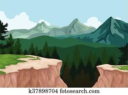 mountain cliff landscape background