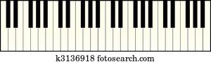 pianotastatur, langer