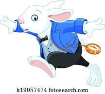 Running White Rabbit