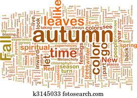 Autumn fall wordcloud