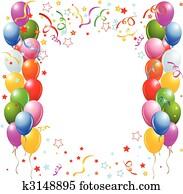 Balloons border