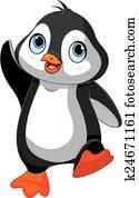Cartoon baby penguin