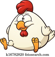 Fat cartoon chicken