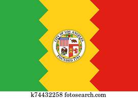 Flag of the city of Los Angeles. California
