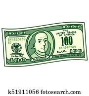 karikatur, 100 dollar rechnung