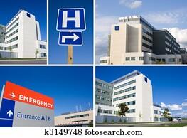 Modern hospital collage