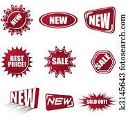 sales symbols set