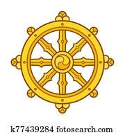 Dharma Wheel symbol
