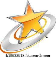 Golden star with circular orbits