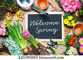 Welcome spring sign