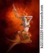 Mermaid in Red